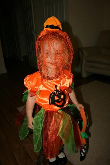 Mergaitės Helovino kostiumas