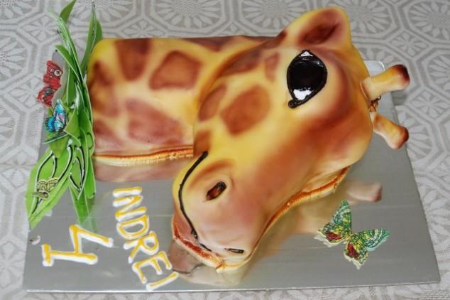 Mergaičių gimtadienis žirafų/safari tema