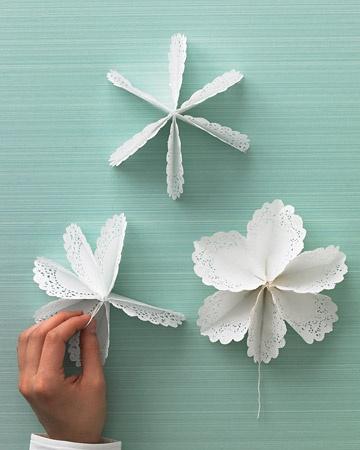 Dekoracijos iš popierinių servetėlių (doillies)