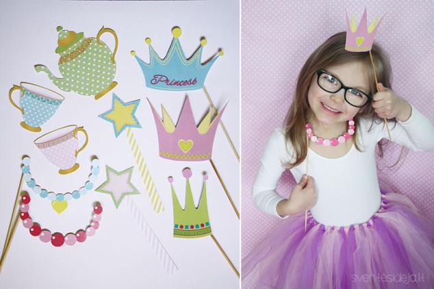 Fėjų princesių gimtadienio fotosesijos atributika
