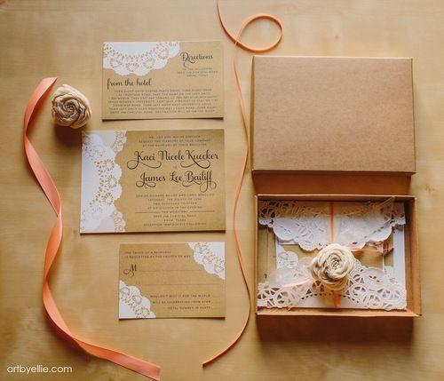 Popierinės servetėlės kvietimams bei vokams