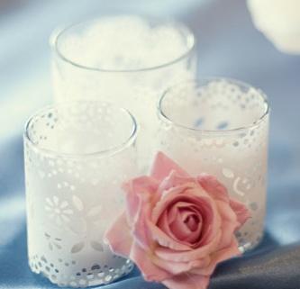 Popierinės servetėlės žvakidėms