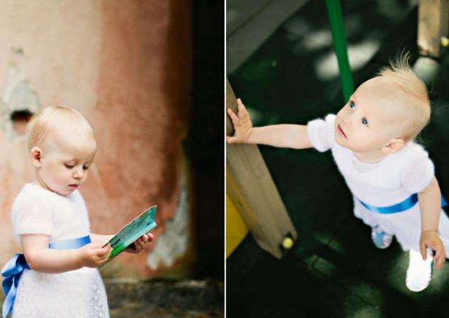 Megzta balta krikšto suknelė