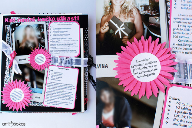 Rankų darbo receptų knyga mergvakariui