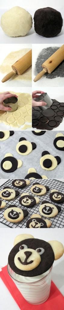 Kaip padaryti meškiuko galvos sausainius
