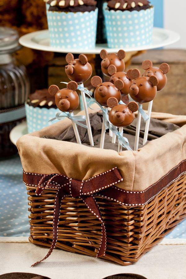 Meškiukai cake popsai - sausainiai ant pagaliuko