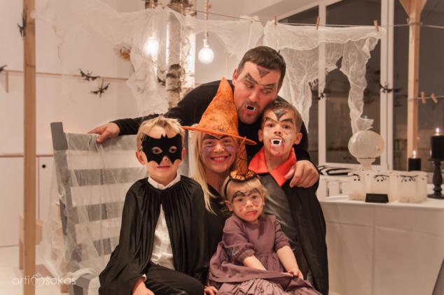 Halloween -iškas gimtadienis vakarėlis - kostiumai
