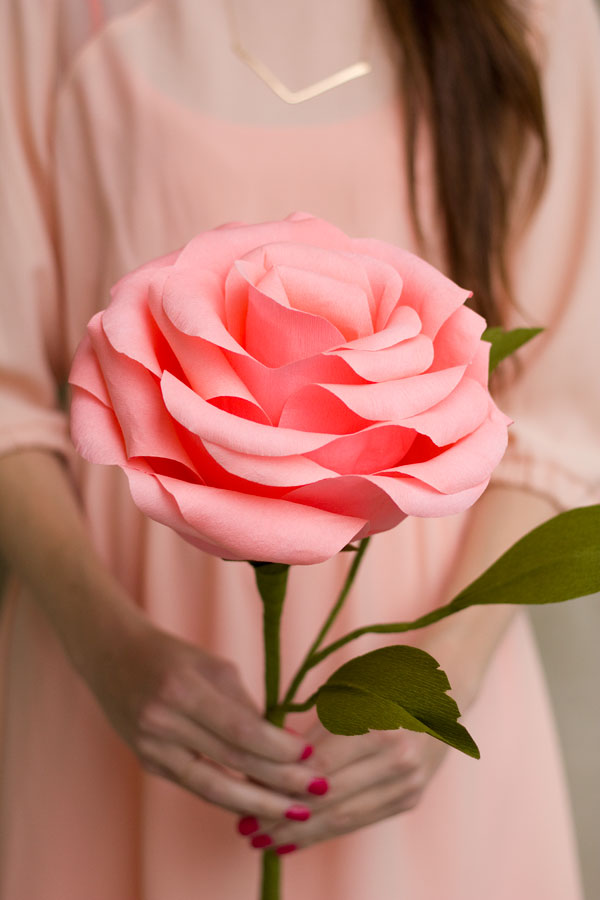 Popierinė gėlė - pasidaryk pats
