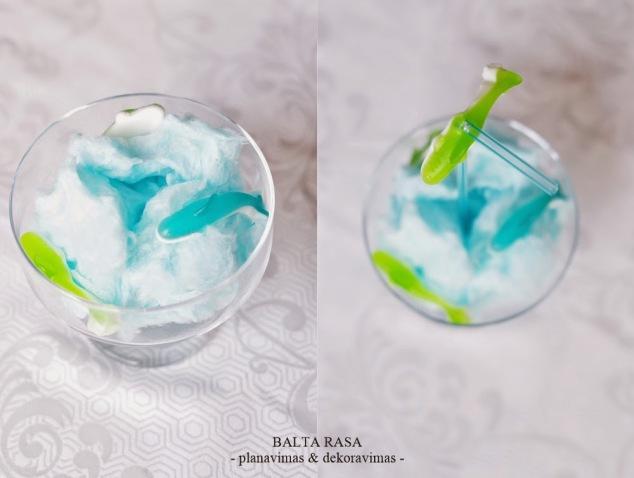 mėlynas gėrimas gimtadienyje