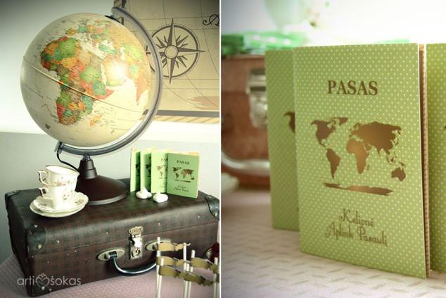 Teminiai mergaičių gimtadieniai - kelionė aplink pasaulį