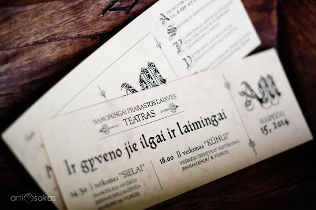 Vestuviniai kvietimai - teatro bilietas