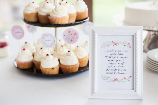 Krikštynų saldusis stalas - rėmelis su užrašu
