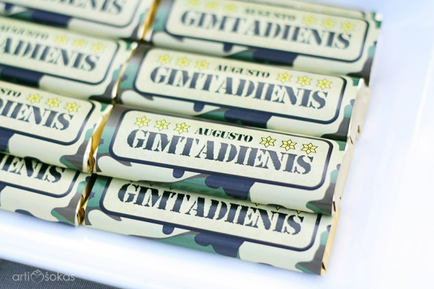 Šokoladukų popierėliai