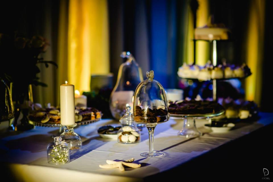 Saldaus stalo dekoras - vestuvės