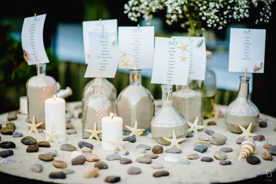 Svečių sėdėjimo planas jūrinės tematikos vestuvėse