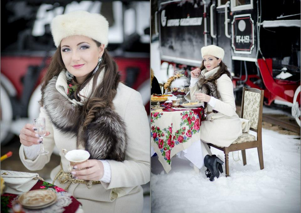 Merginų fotosesija žiemą