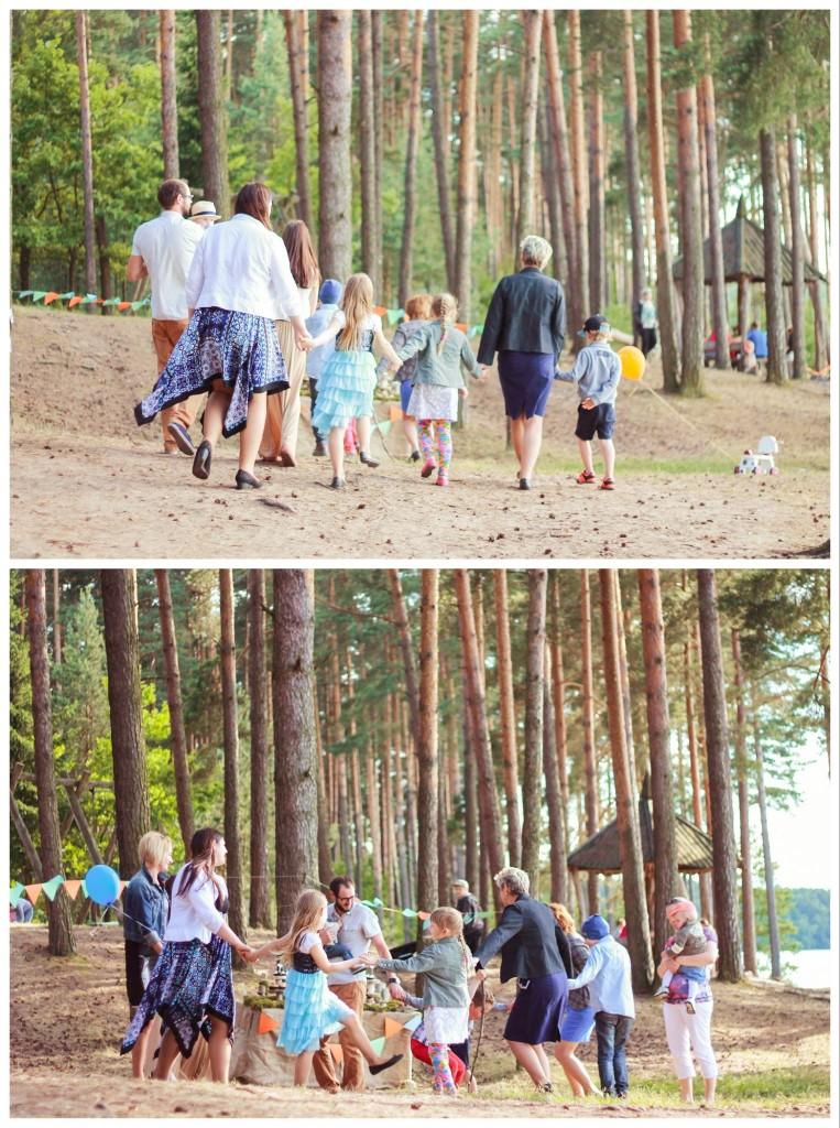 Gimtadienio žaidimai miške, gamtoje