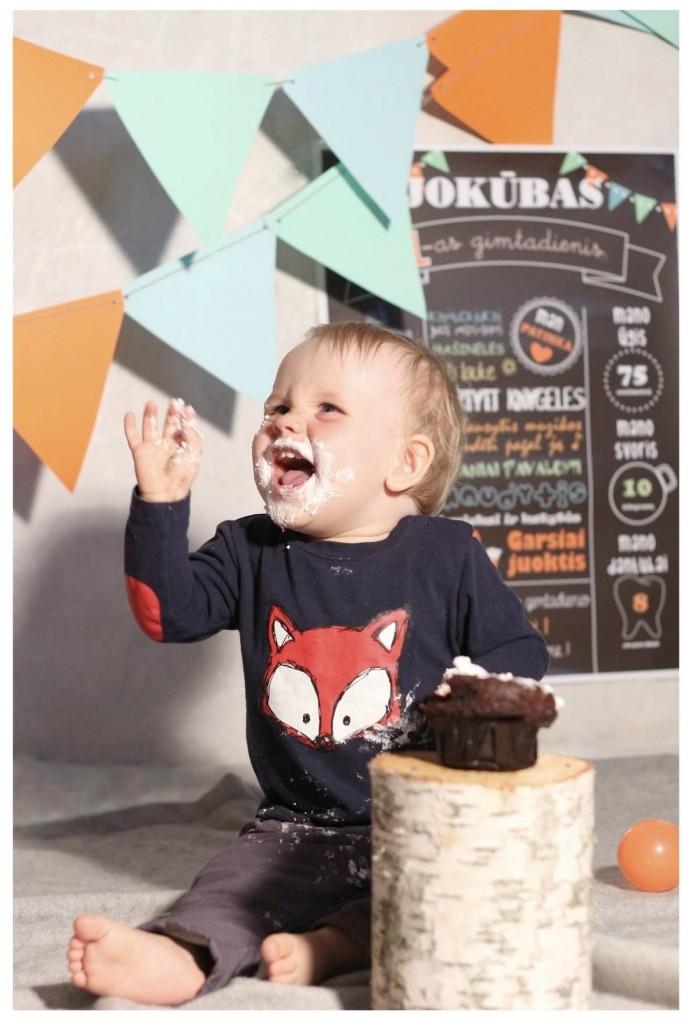 Pirmas gimtadienis - torto valgymo fotosesija
