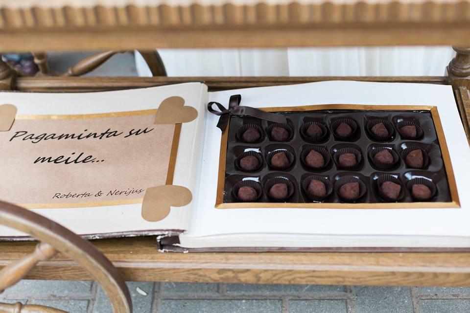 Šokolado vestuvių vaišės, dekoracijos, puošimas
