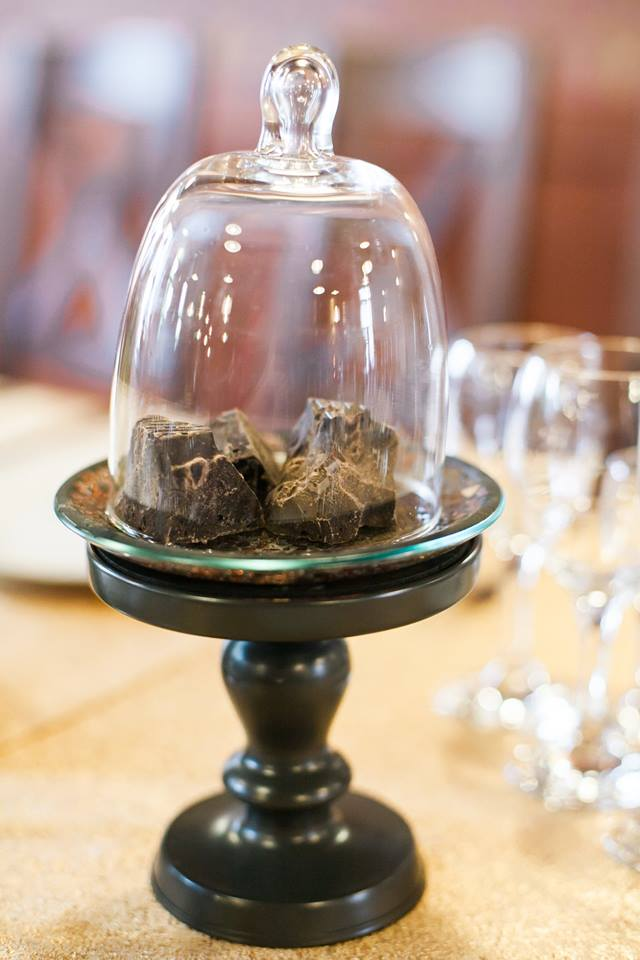 Šokolado teminės vestuvės - dekoracijos
