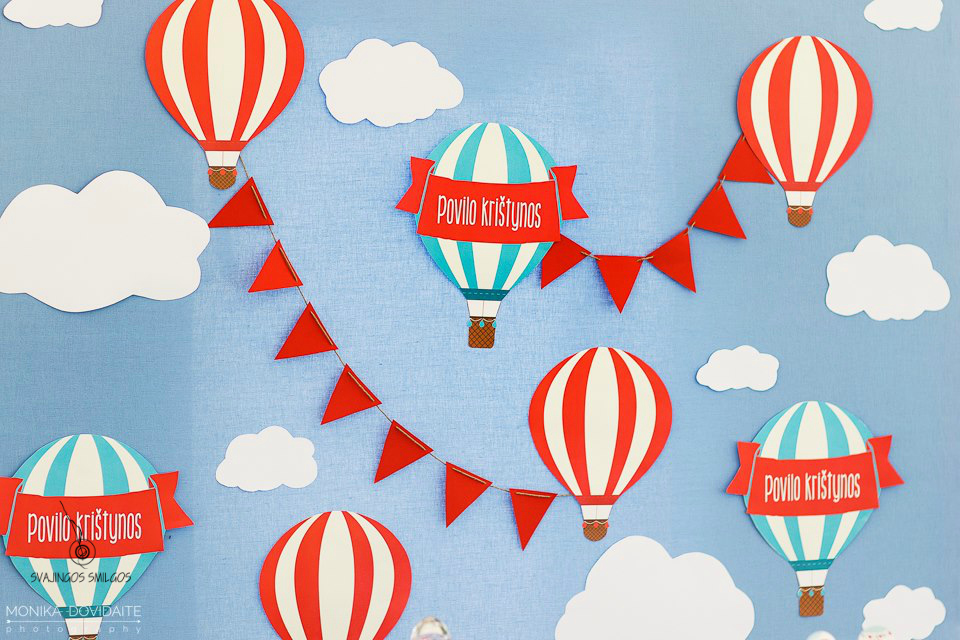 Dekoracijos Oro balionėliai, girlianda