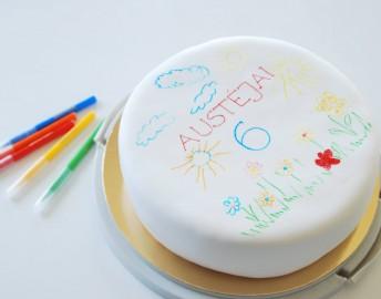 Kūrybingas gimtadienis piešimo tema