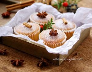 Kalėdiniai imbieriniai keksiukai