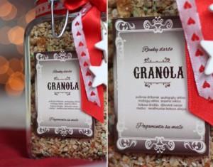 Rankų darbo saldi Kalėdų dovana – granola