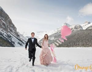 Vestuvės žiemą kalnuose