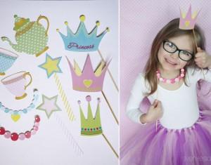 Princesių bei fėjų fotosesijos rekvizitai