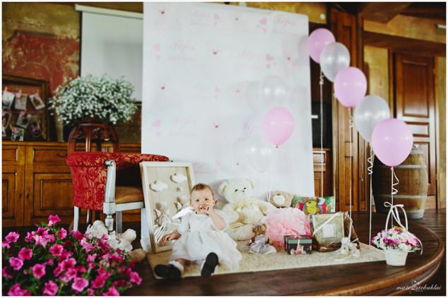 Krikštynų dekoras - foto kampas
