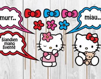 Hello Kitty foto rekvizitai ant pagaliuko