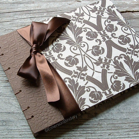 Šokoladinės spalvos svečių knyga vestuvėms