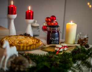 Kalėdų šventinio vakaro dekoras