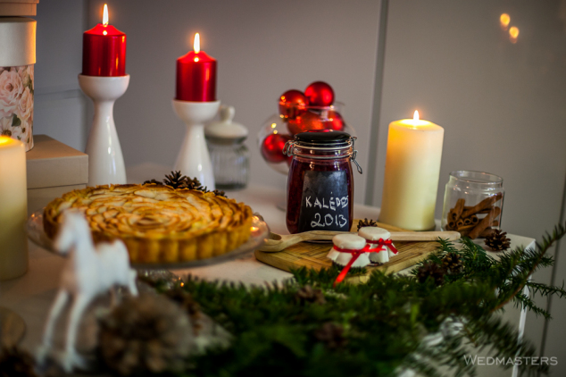 Kalėdinis stalas - puošimas