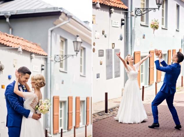 Vestuvės - poros fotosesija Vilniaus senamiestyje