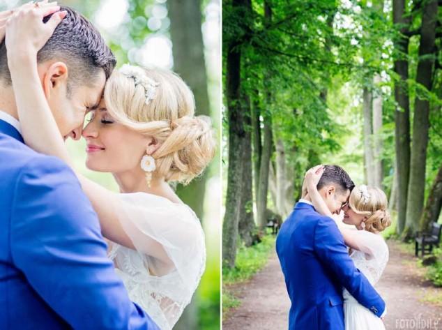 Vestuvės - poros fotosesija gamtoje