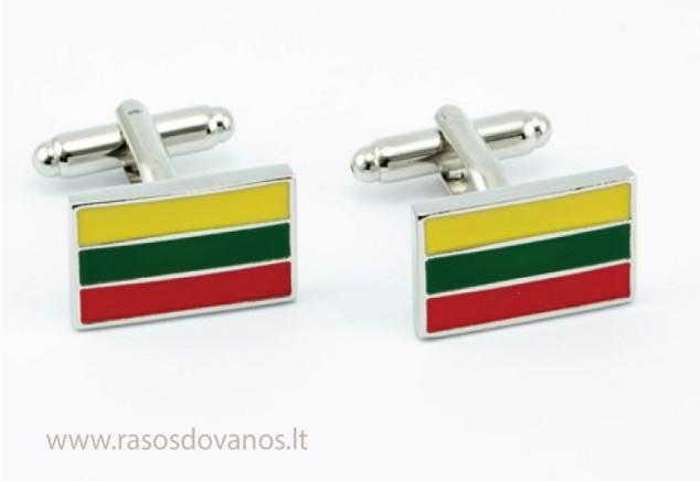 Lietuviška atributika - aksesuaras sąsagos su trispalve vėliava