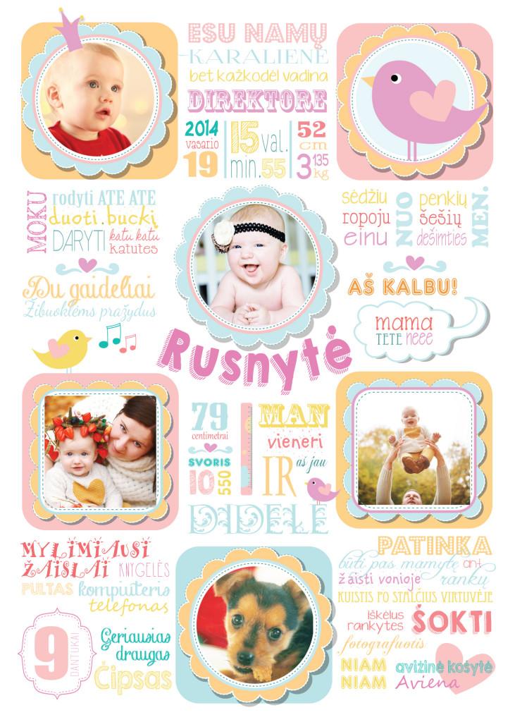 Vaiko pirmojo gimtadienio idėjos - pasiekimų metraštis