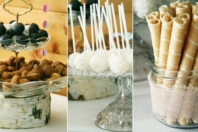 Saldumynai ant šventinio saldaus stalo