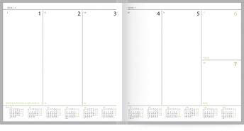 2018 metų darbo kalendorius - visa savaitė puslapyje