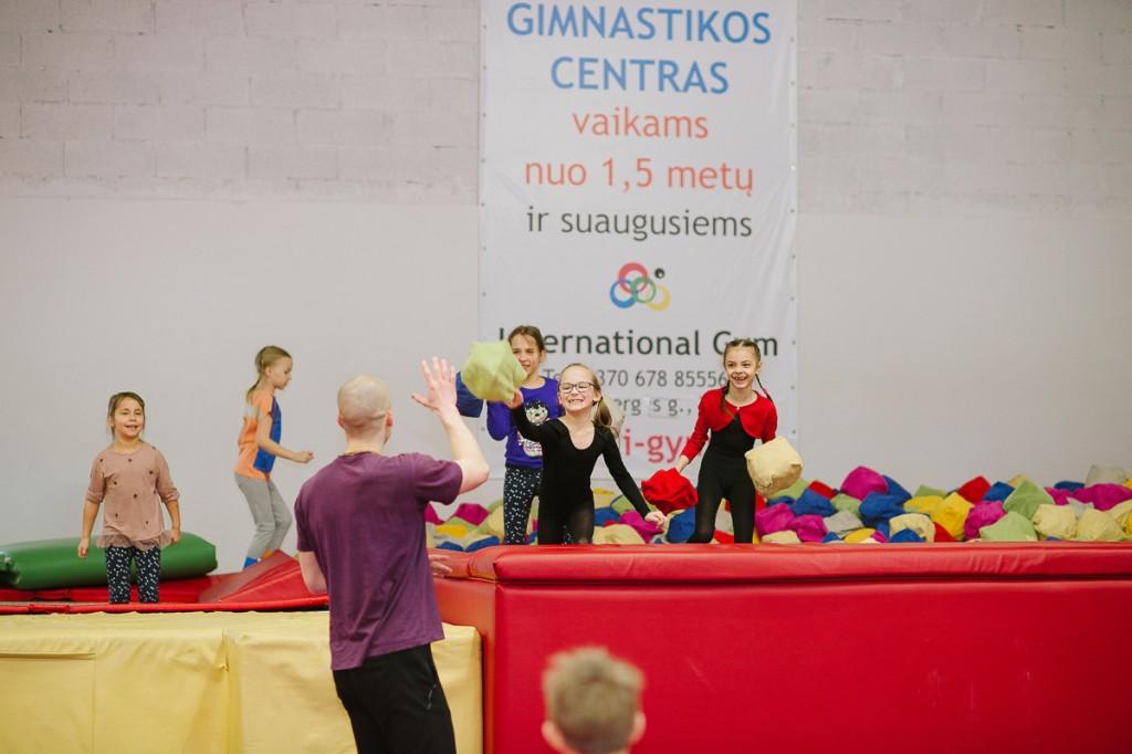 Gimtadienis gimnastikos centre