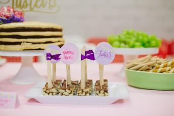 Tinginys - gimtadienio desertas ir dekoracijos, papuošimai, smeigtukai