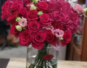 Gėlės per kurjerį