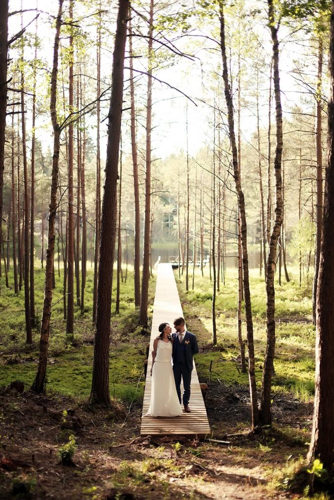 Vestuvės ir fotosesija miške