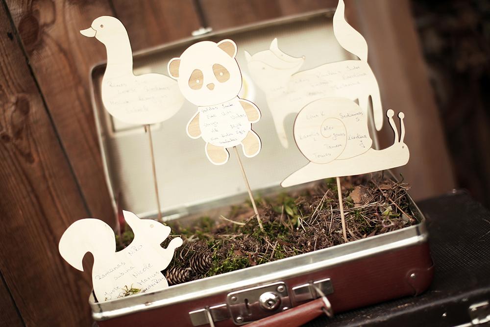 Originalus svečių susodinimo planas lagamine