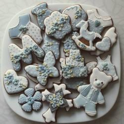 Krikštynų sausainiai: drugelis, arkliukas, meškiukas