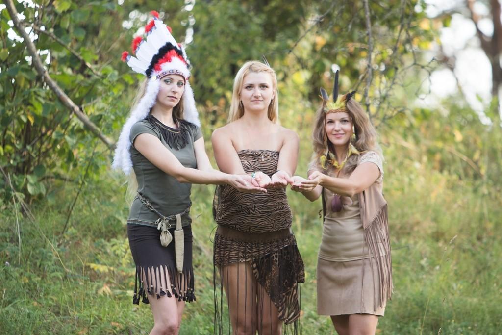 Teminis mergvakaris - indėnės, kostiumas