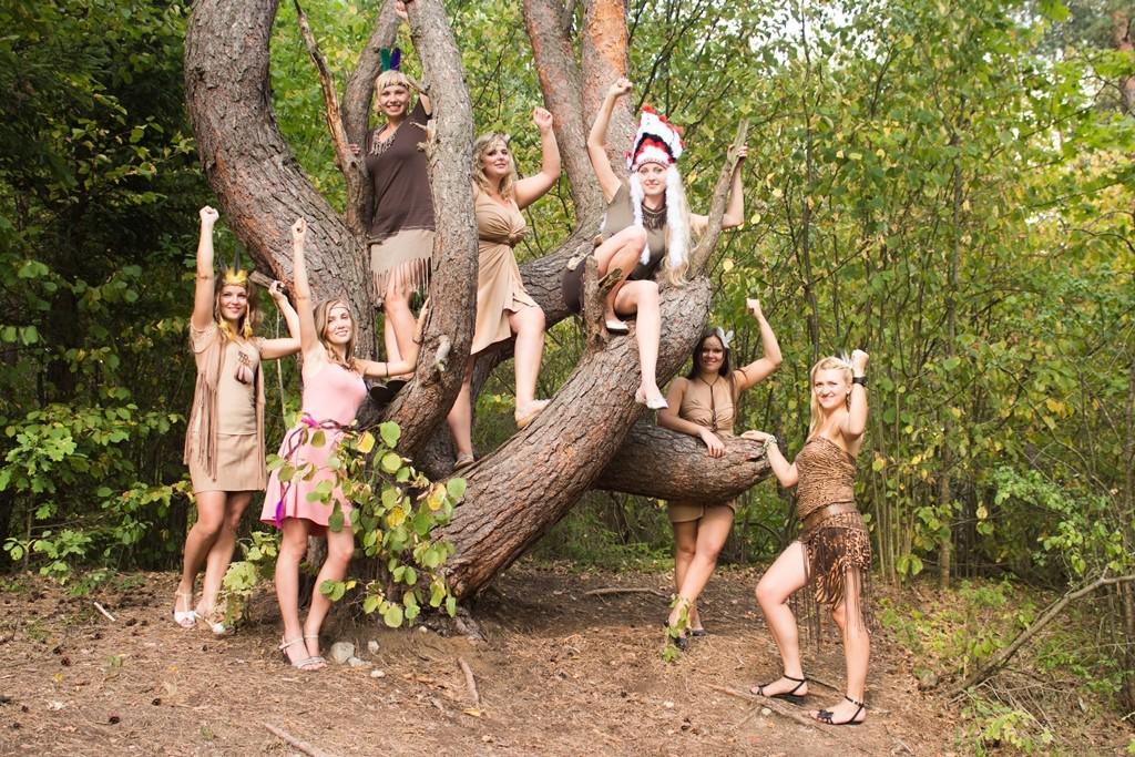 Teminis mergvakaris - indėnės, fotosesija miške