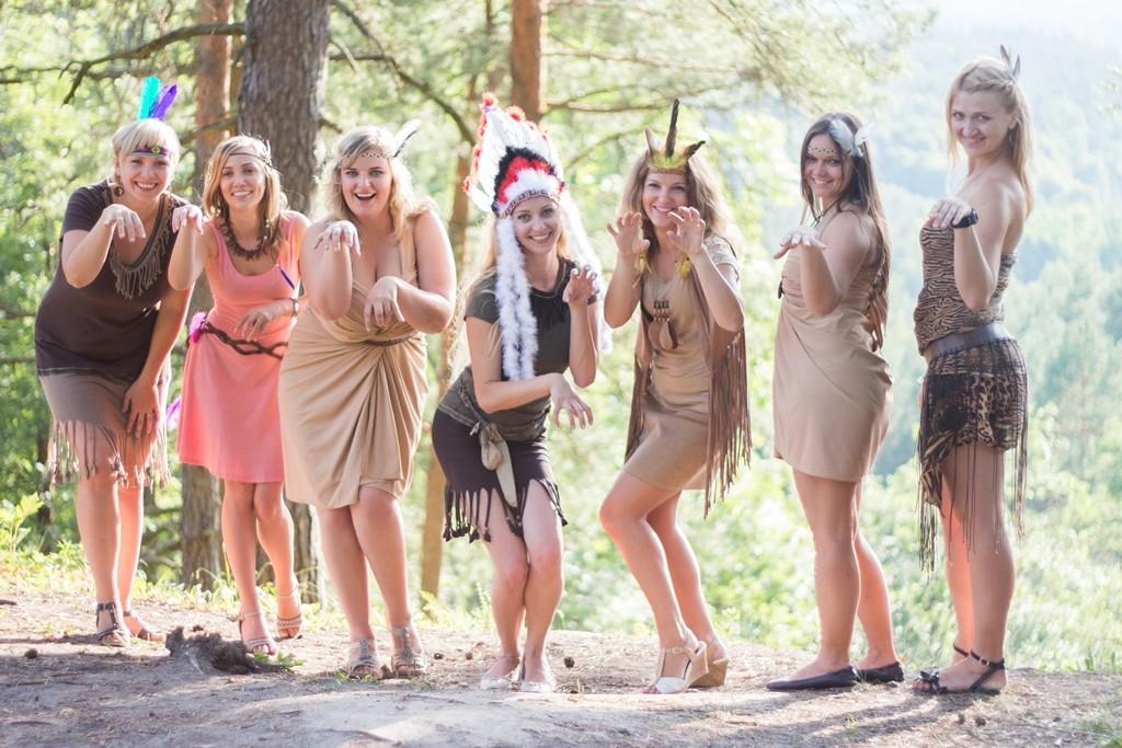 Indėnės kostiumas, stilizuota teminė apranga, mergvakario idėjos, wedding bachelorette party